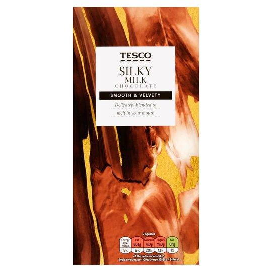 Tesco Silky Milk Chocolate 100g