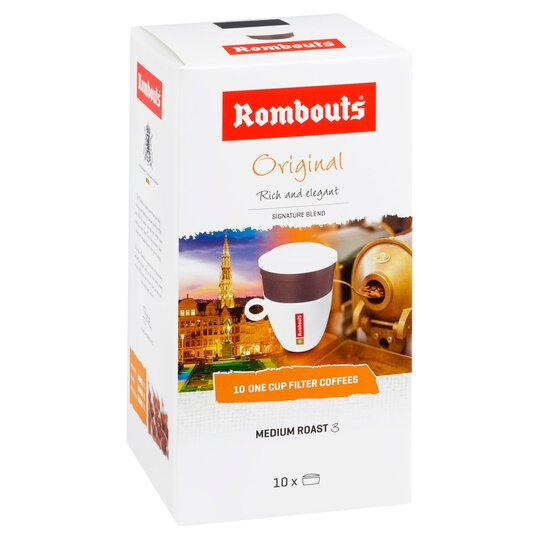 Rombouts Original One Cup Filter Coffee 10 Pack 62g
