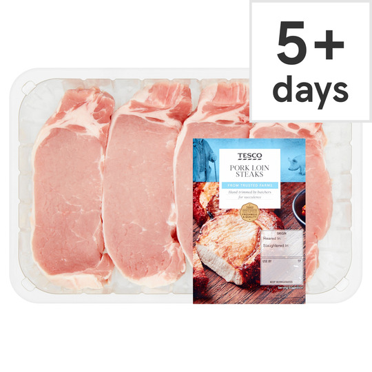 Pork Loin Steaks 540G - Tesco Groceries