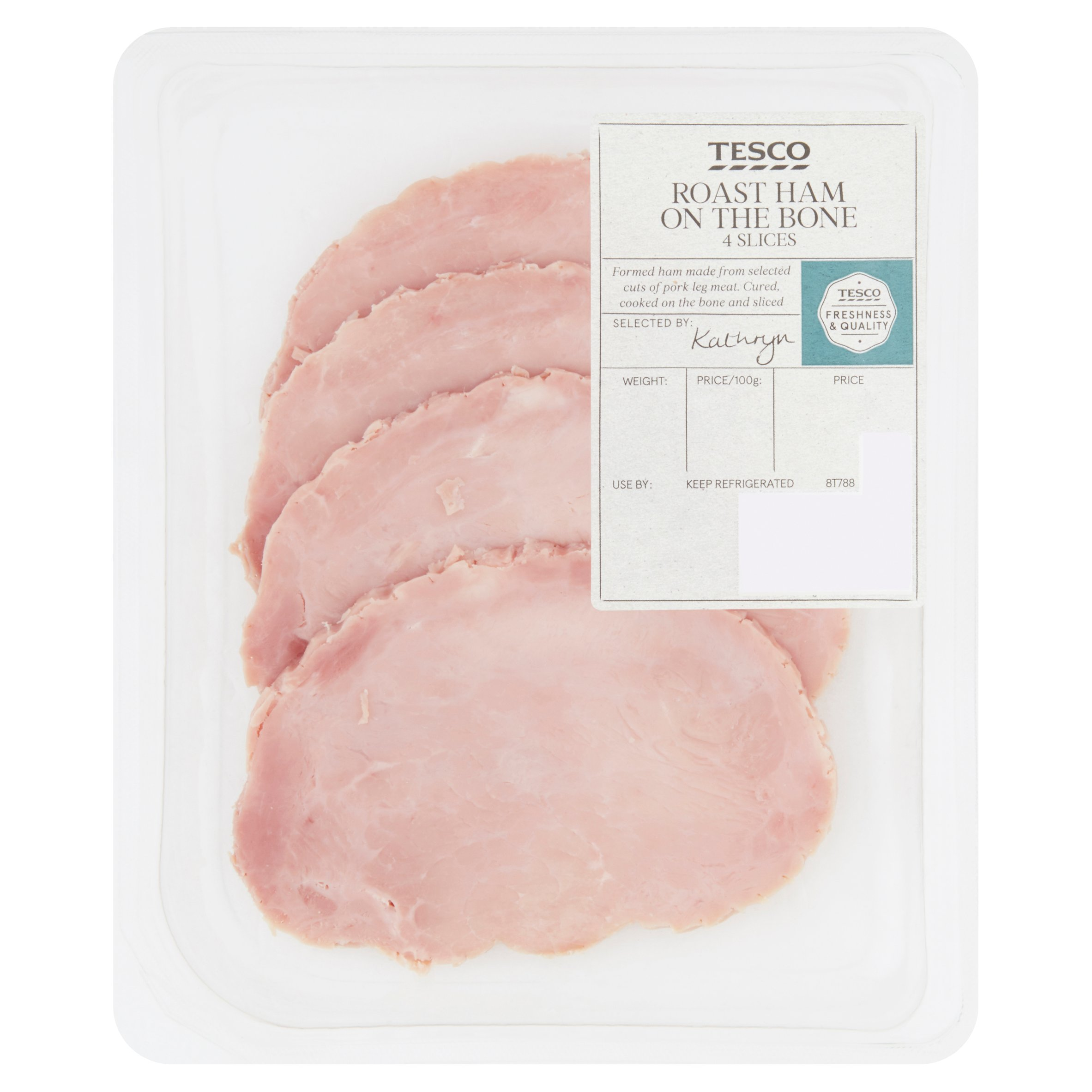 Tesco Roast Ham On The Bone 4 Slices