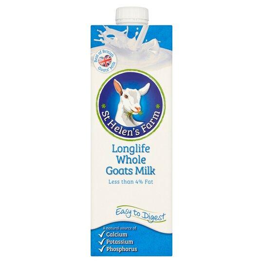 St Helens Farm Uht Whole Goats Milk 1 Litre