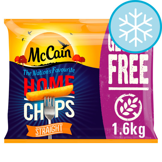 Mccain Home Chips Straight Gluten Free 1.6Kg