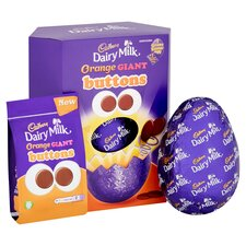 image 2 of Cadbury Dairy Milk Orange Giant Buttons Easter Egg 410G