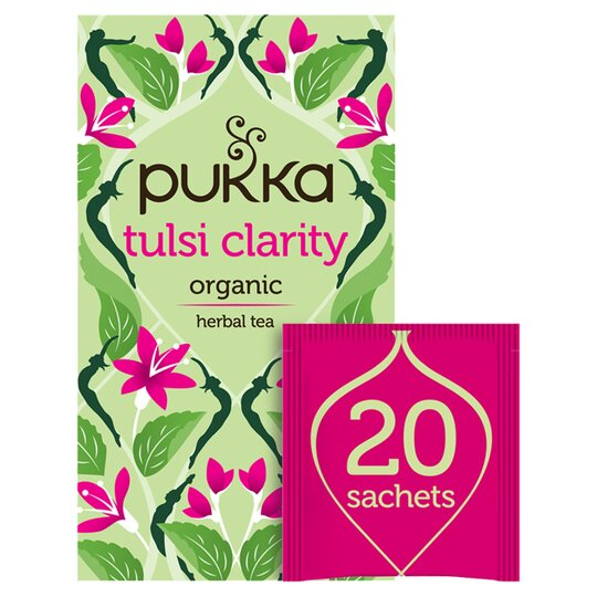Pukka Organic Tulsi Clarity Herbal Tea 20 Sachets 36G