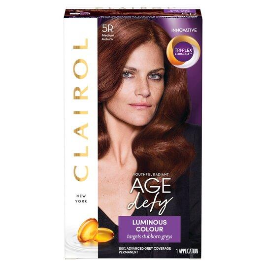 Clairol Nice 'N Easy Age Defy. Medium Auburn 5R Hair Dye