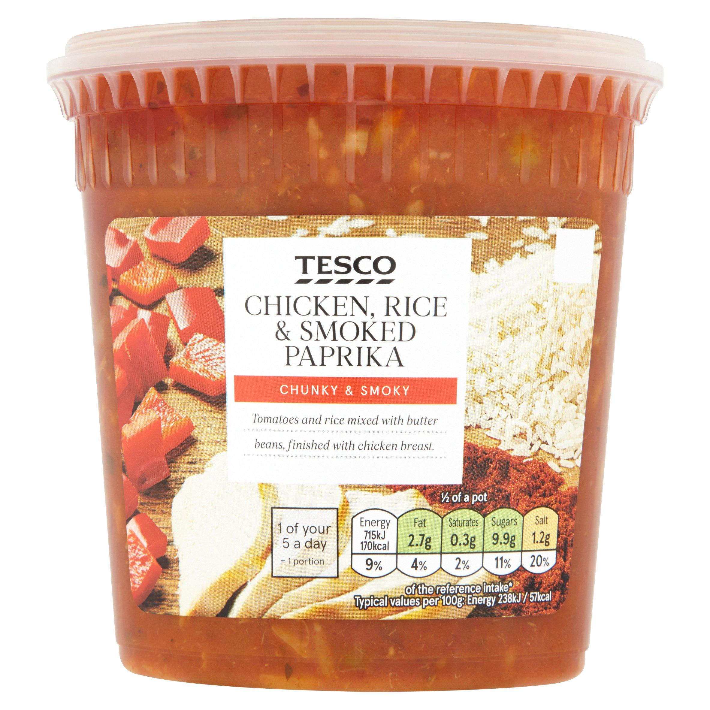 Tesco Chicken Rice, Paprika & Rice Soup 600G