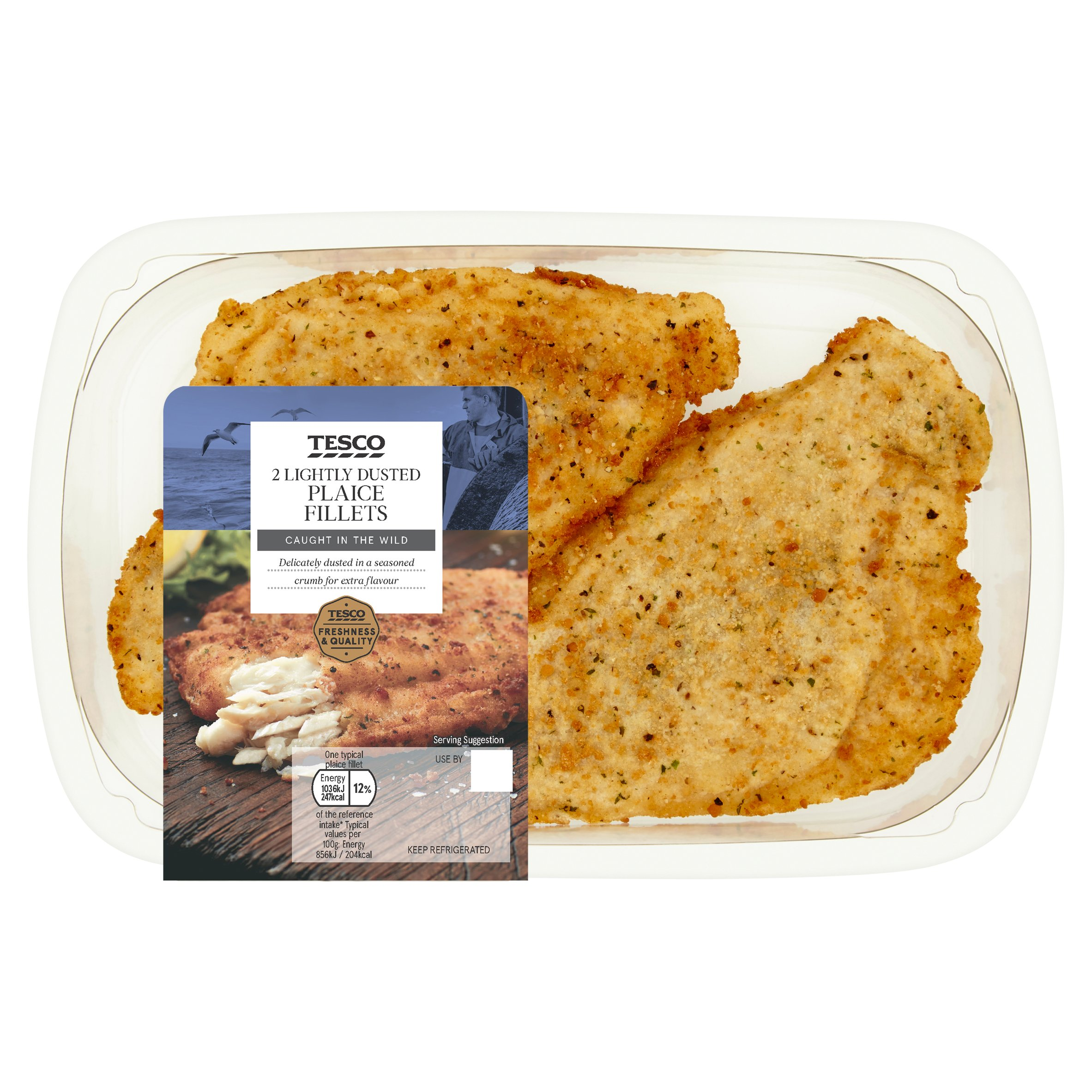 Tesco Lightly Dusted Plaice Fillets 265G