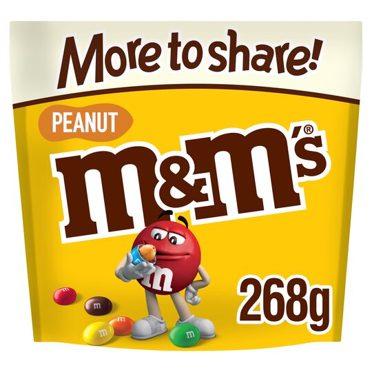 M&M Peanut More To Share Pouch 268G