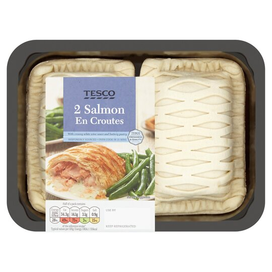 Tesco Salmon En Croute 370g Tesco Groceries