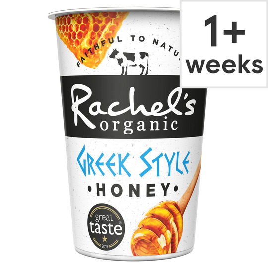 Rachel's Organic Greek Style Honey Yogurt 450G