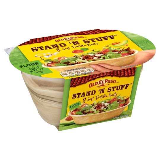 Old El Paso Stand 'N' Stuff Soft Flour Tortillas 8Pk 193G