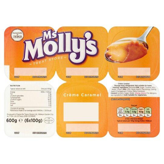 Ms Molly's Creme Caramel Dessert 6X100g