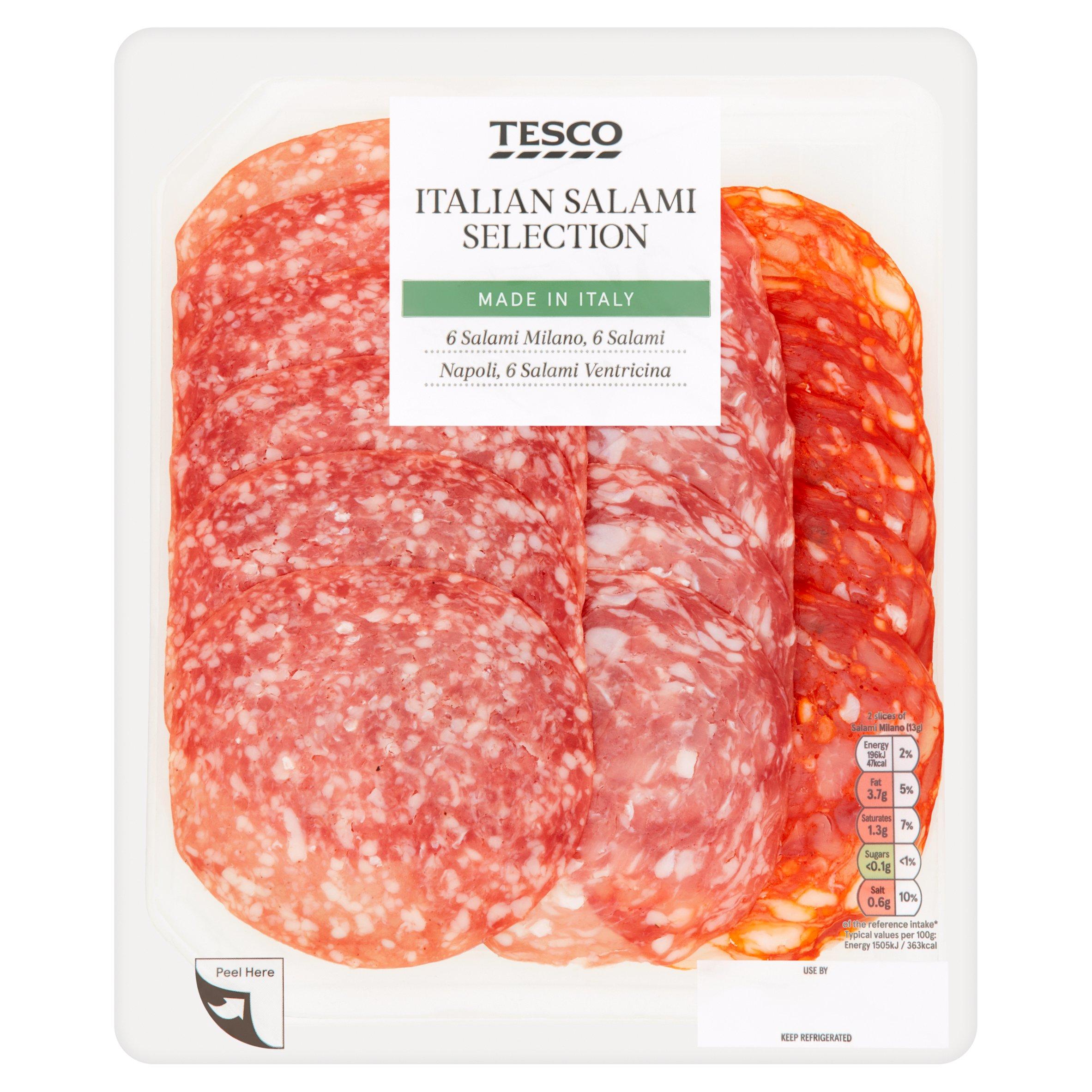 Tesco Italian Salami Selection Platter 120G