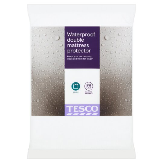Tesco Waterproof Towelling Protector Double Tesco Groceries