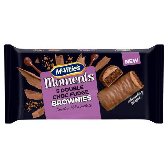 image 1 of Mcvities Moments 5 Double Chocolate Fudge Brownies