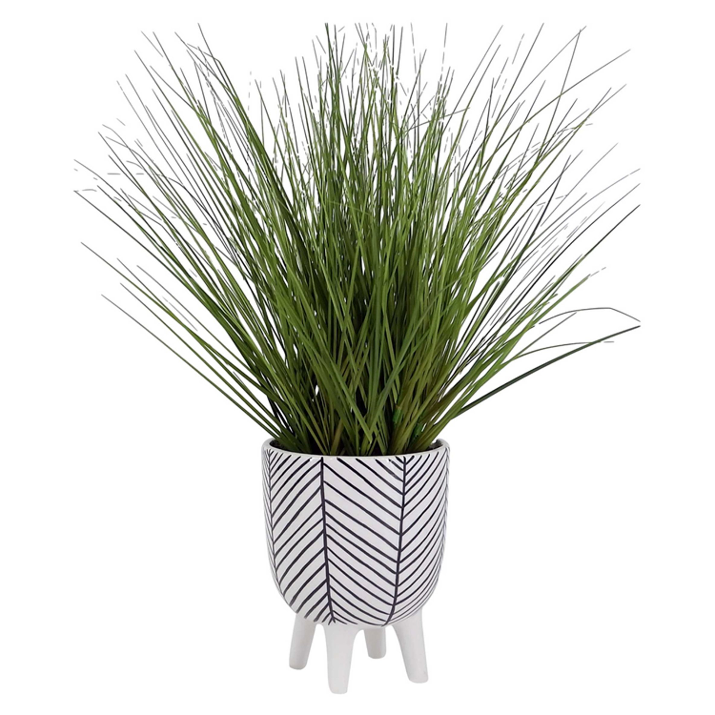 Artifloral Grass In Ceramic Stand