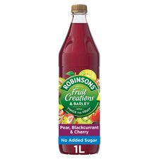 image 1 of Robinsons Fruit Creations Pear Blackcurrant & Cherry 1L