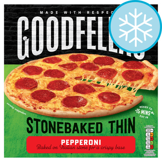 Goodfellas Stone Baked Thin Pepperoni Pizza 332G