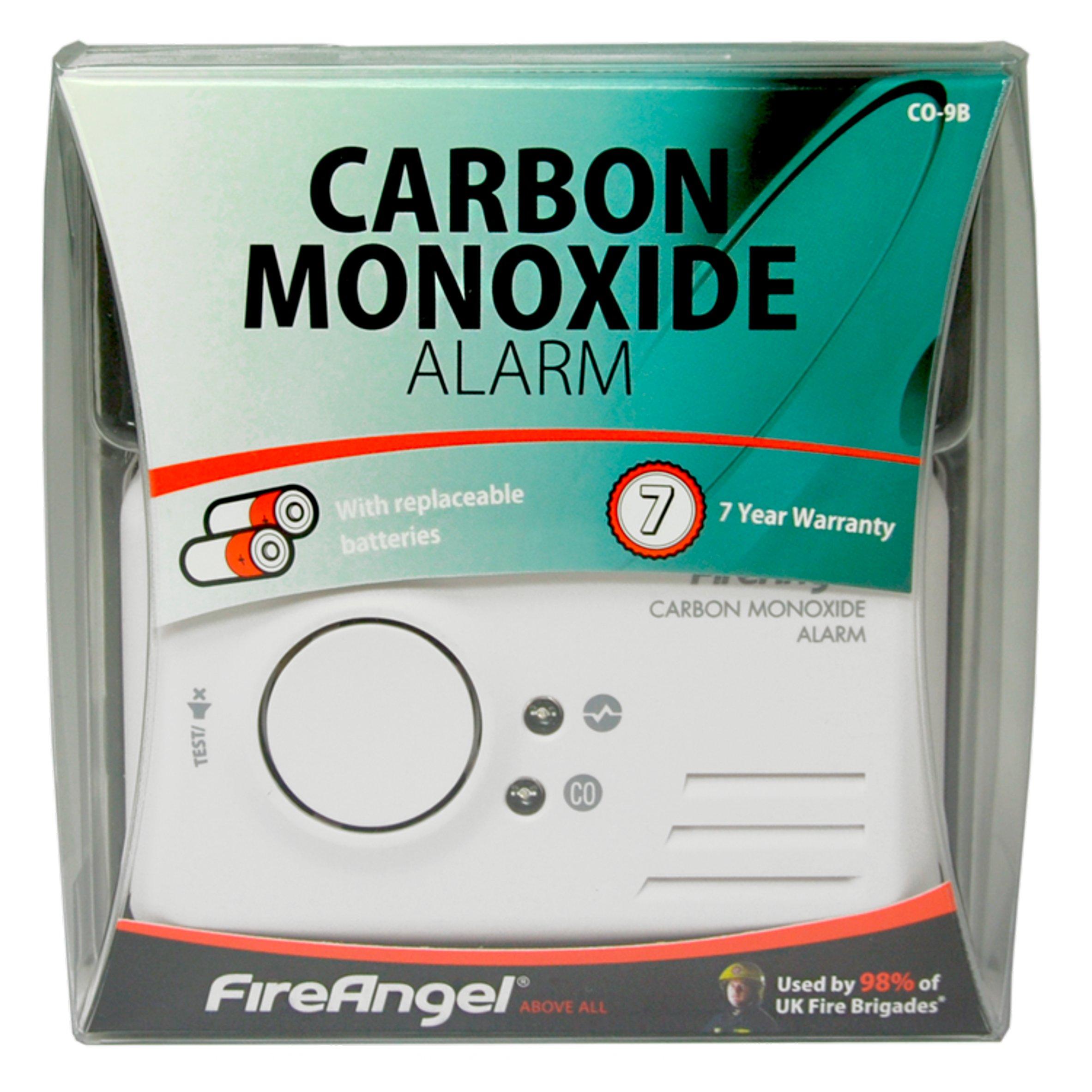 2 Pack White Fireangel CO-9B Carbon Monoxide