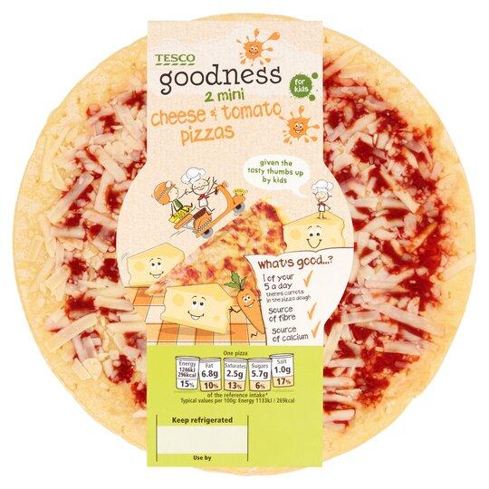 Tesco Goodness Pizza Cheese Tomato 250g