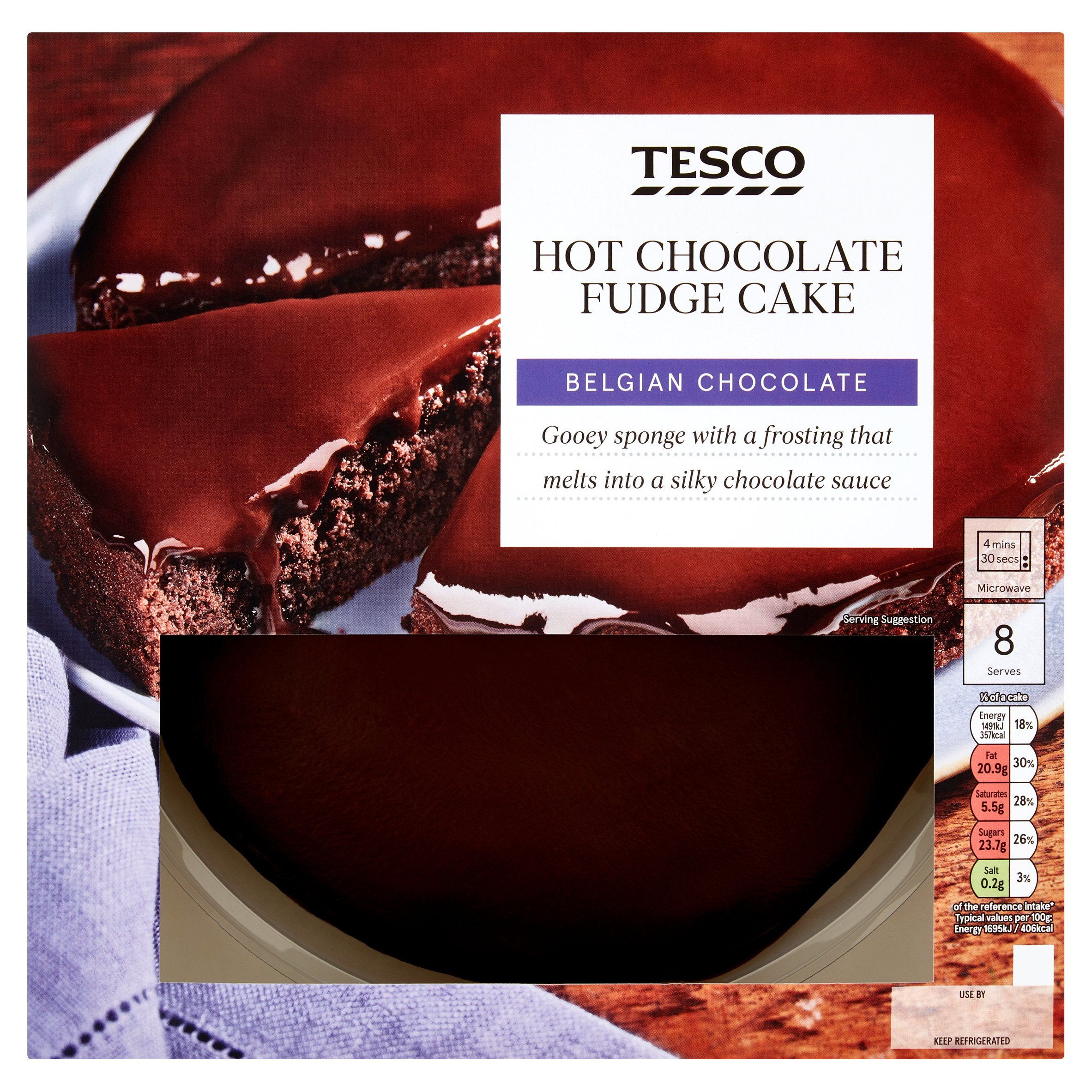Tesco Hot Chocolate Fudge Cake 700G