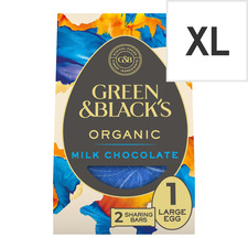 image 1 of Green & Black's Milk Chocolate Large Shell Egg 345G