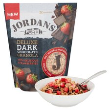 image 2 of Jordans Deluxe Dark Chocolate Granola & Strawberries 550G