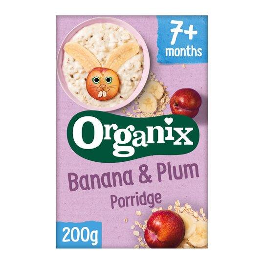 Organix Banana & Plum Porridge 200G