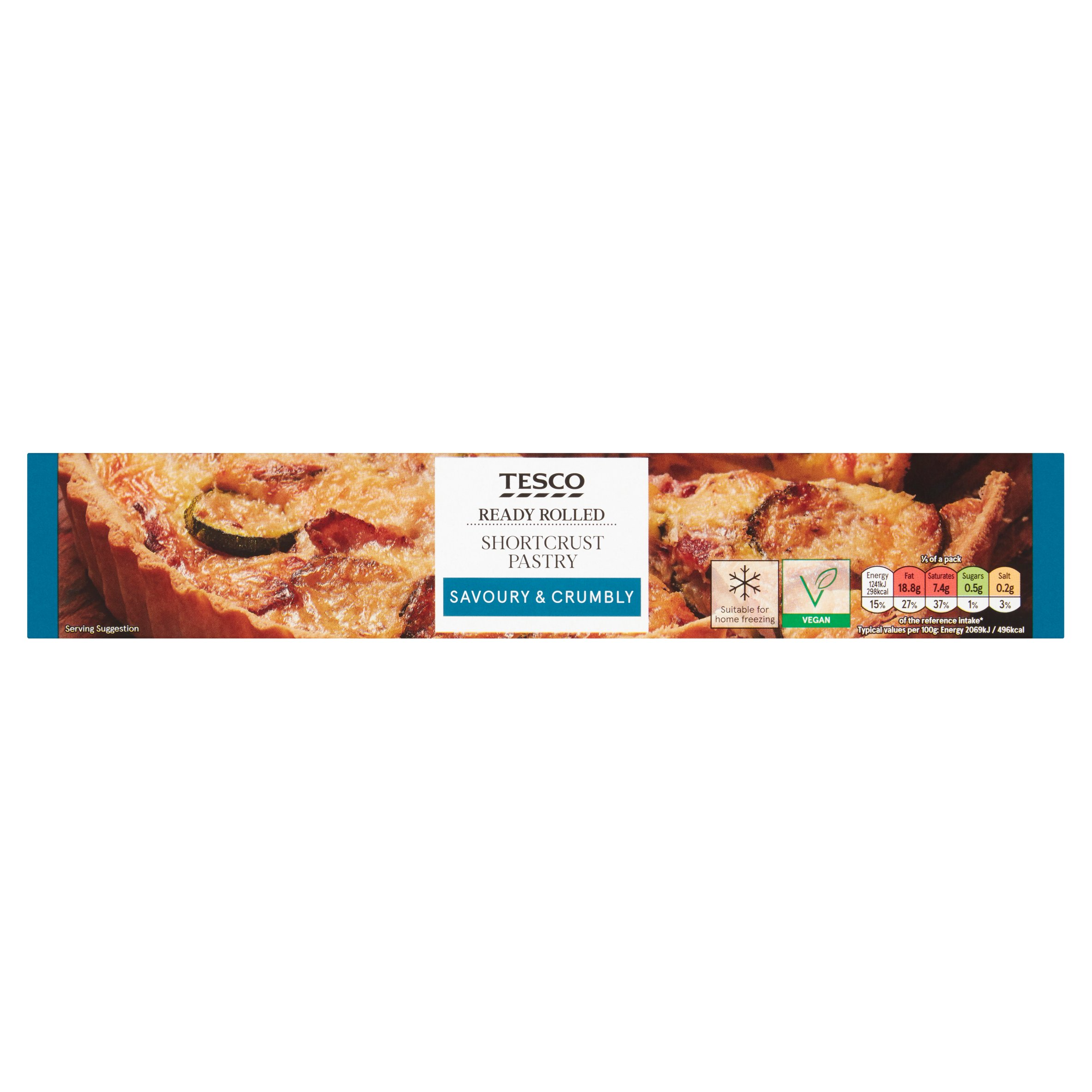 Tesco Ready Rolled Shortcrust Pastry 375G