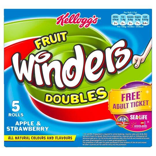 Kellogg's Fruit Winders Double Apple & Strawberry 5X17g