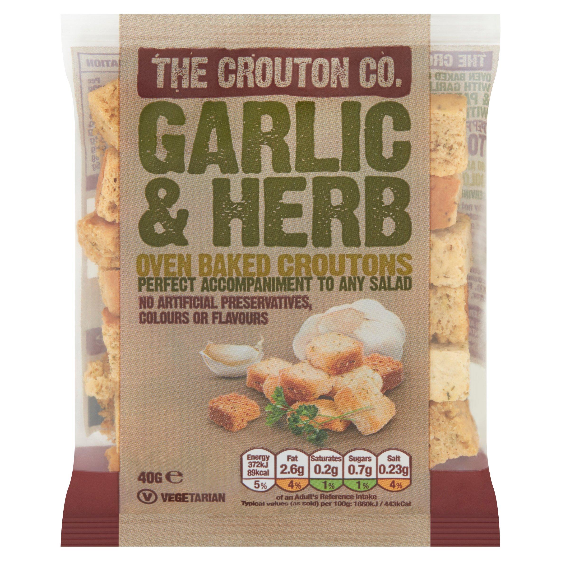 Crouton Company Garlic & Herb Croutons 40G
