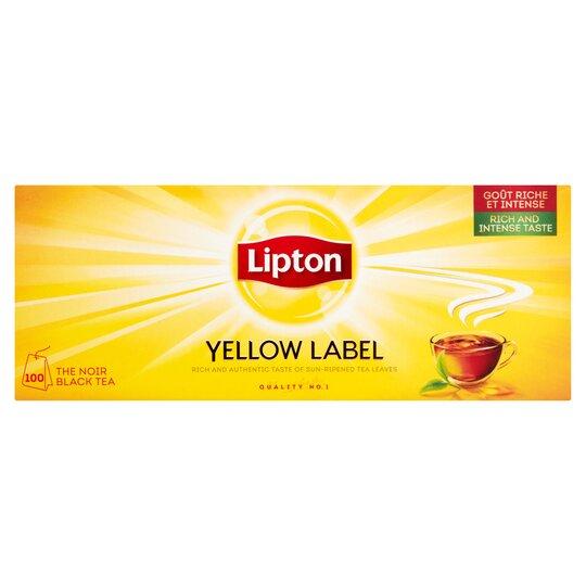 Lipton Yellow Label 100 Tea Bags 200G