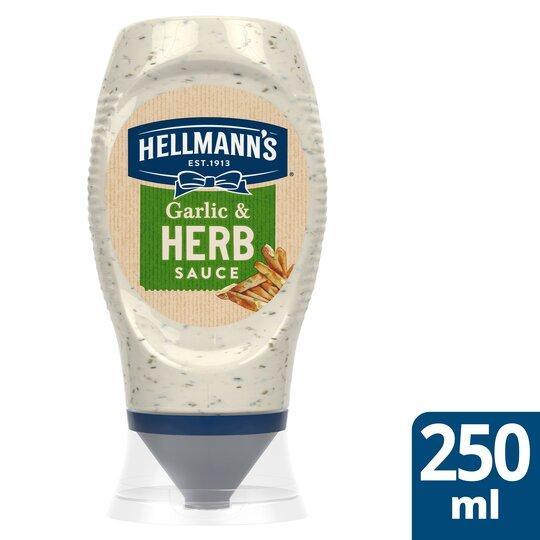 image 1 of Hellmann's Garlic & Herb Sauce 250Ml