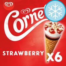 image 1 of Cornetto Strawberry Ice Cream Cones 6 X 90Ml