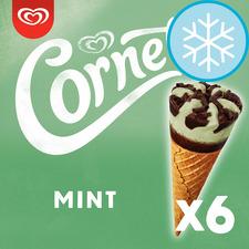 image 1 of Cornetto Mint Ice Cream Cones 6 X 90Ml
