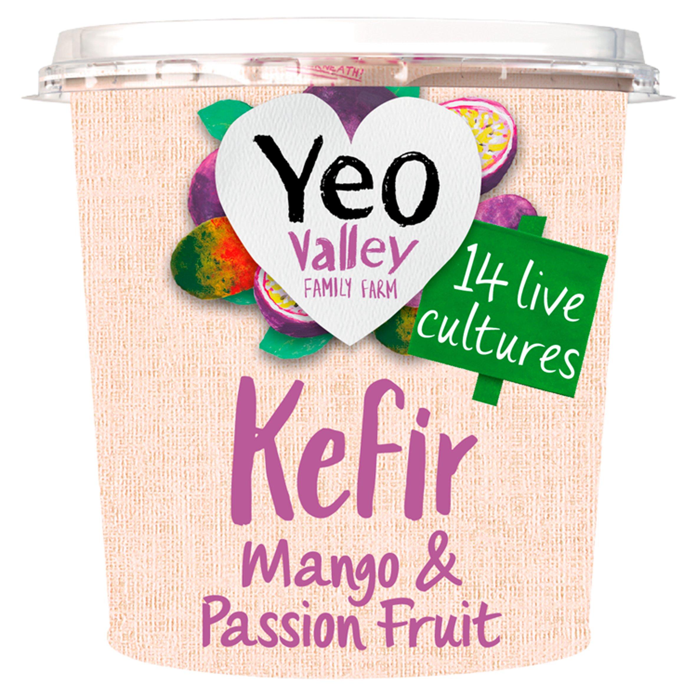 Yeo Valley Kefir Yogurt Mango & Passion Fruit 350G