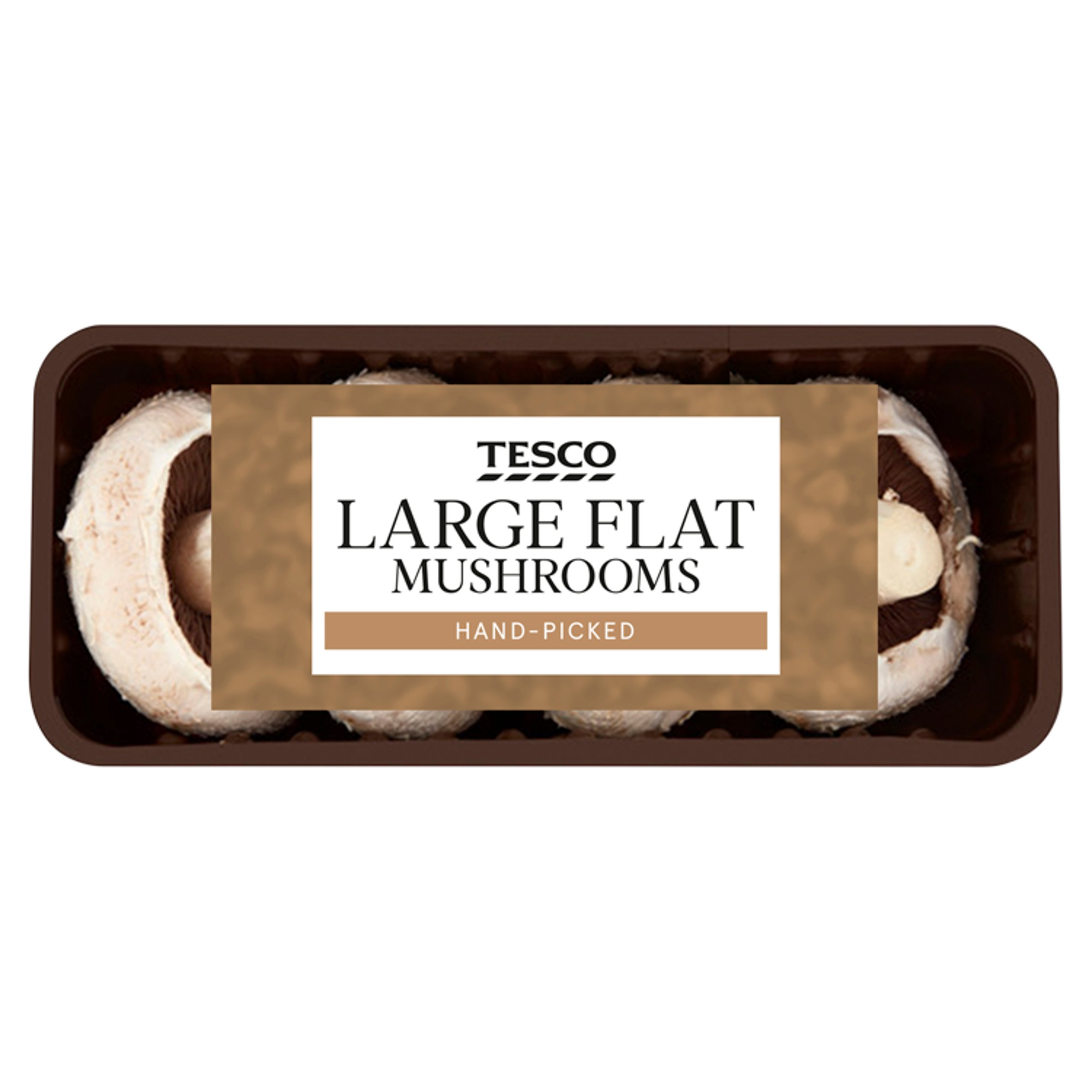 Tesco Large Flat Mushrooms 250G