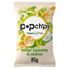 image 1 of Popchips Sour Cream & Onion Potato Chips 85G