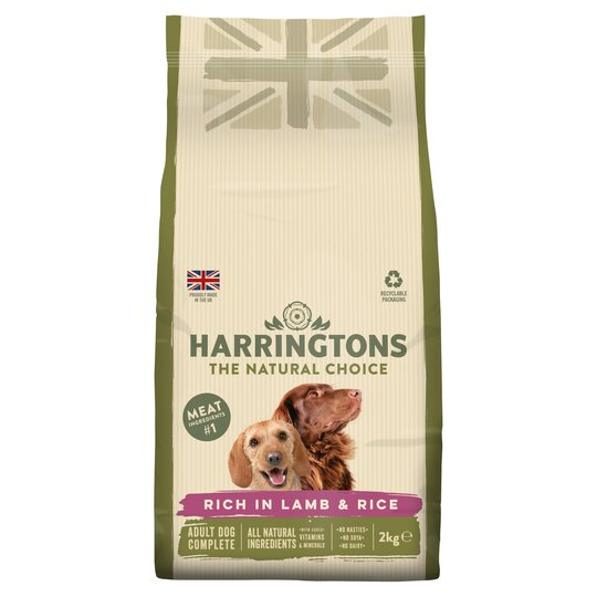 Harringtons Complete Dogfood Lamb Rice 2kg Tesco Groceries
