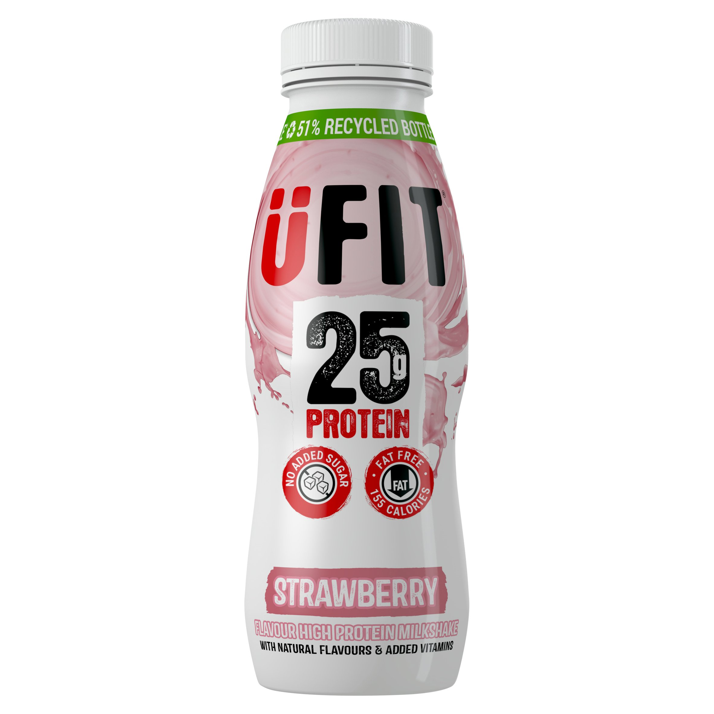 Ufit High Protein Milkshake Drink Strawberry 330Ml