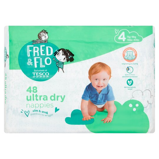Fred & Flo 48 Ultra Dry Nappies Size 4