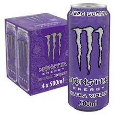 image 1 of Monster Ultra Violet 4X500ml