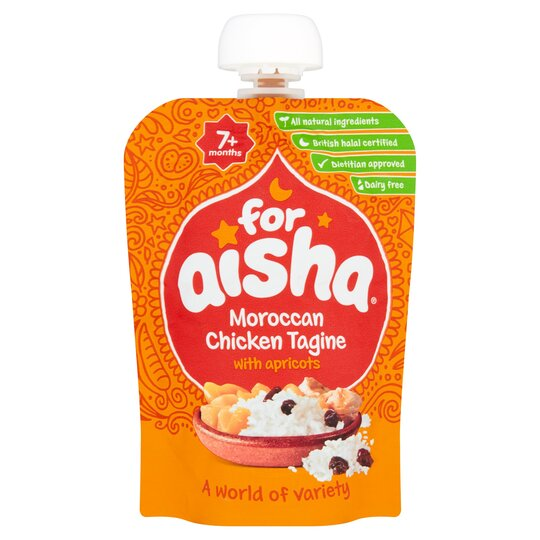 For Aisha Moroccan Halal Chicken Tagine Pouch 130g Tesco