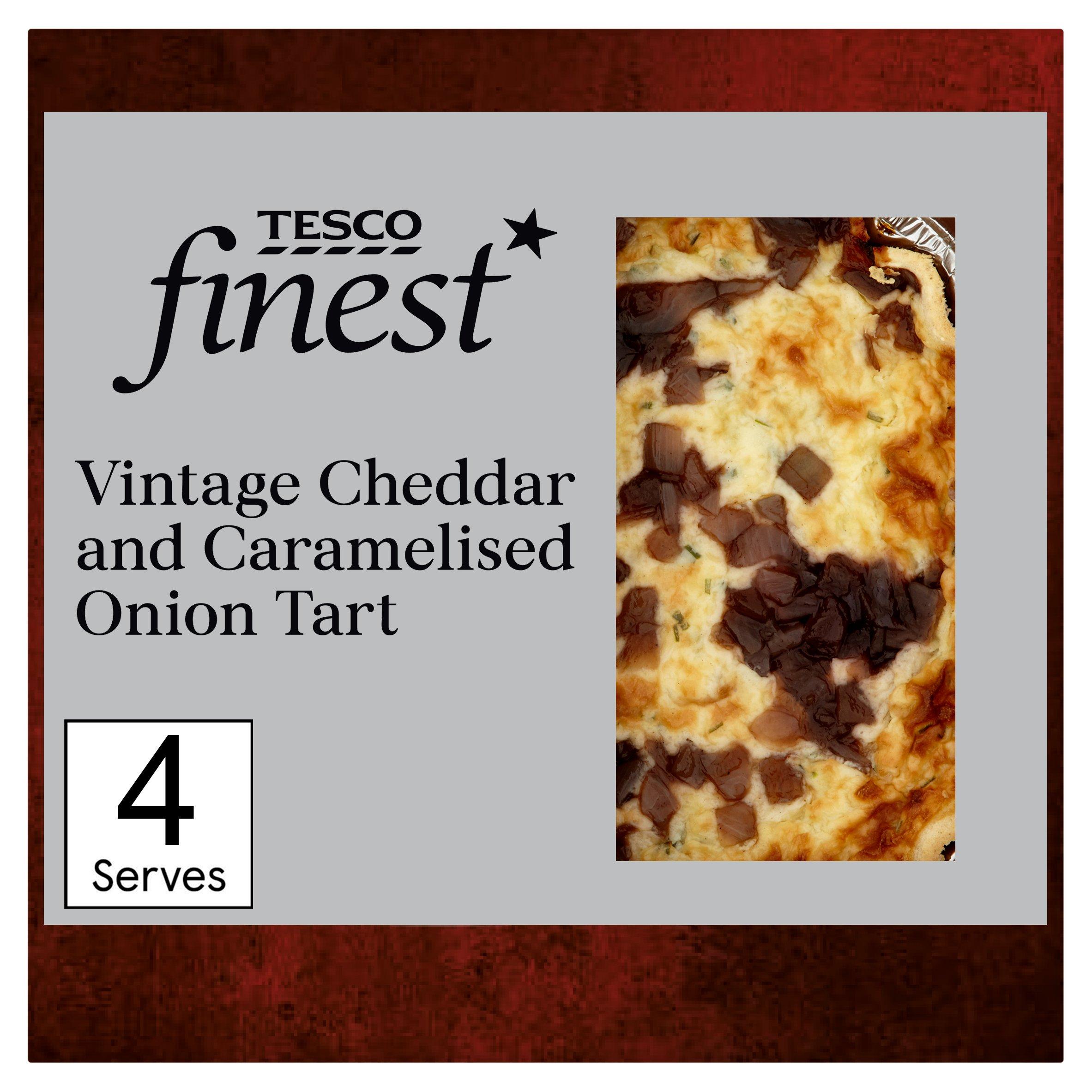 Tesco Finest Vintage Cheddar & Caramelised Onion Quiche400g