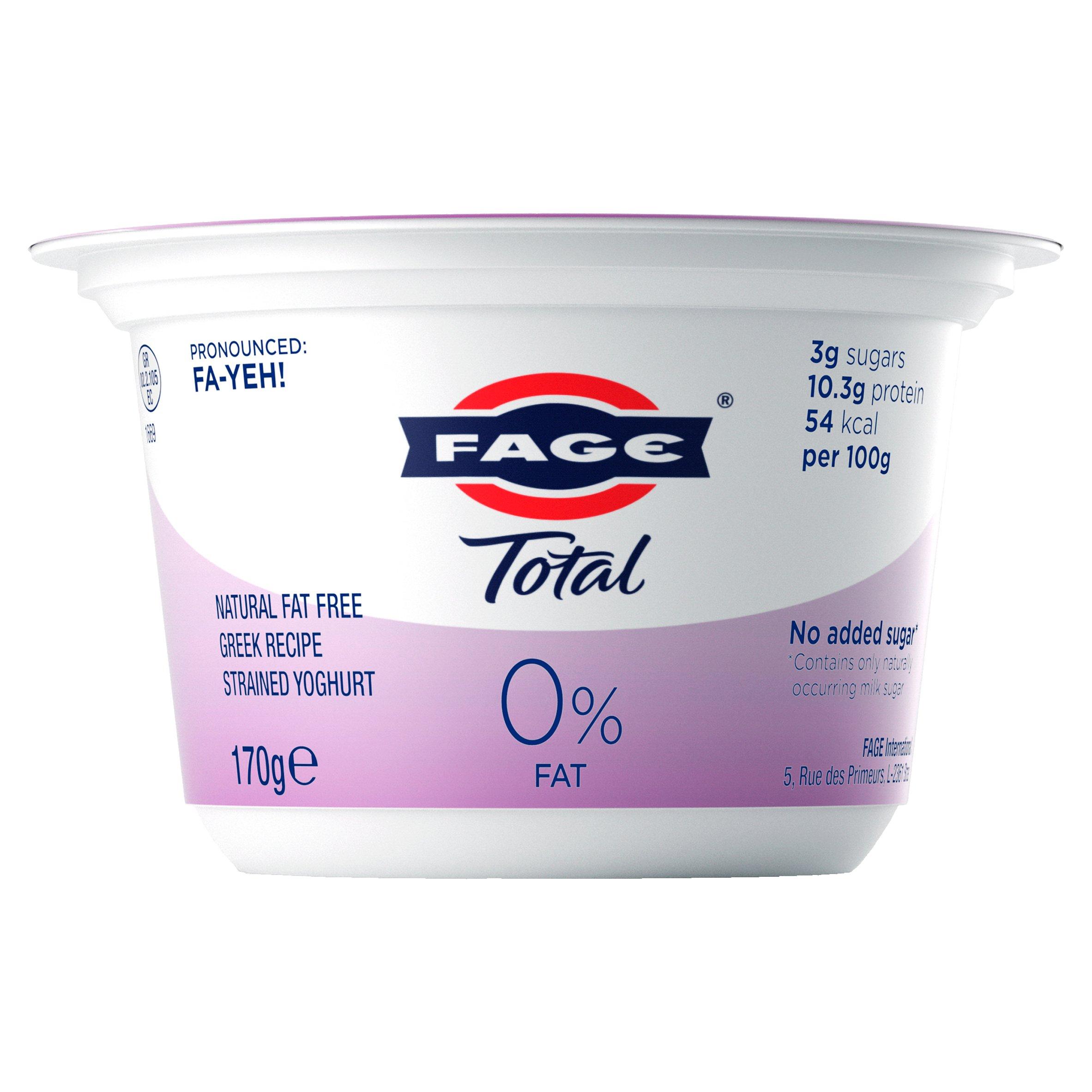 Total Greek 0% Fat Yogurt 170G