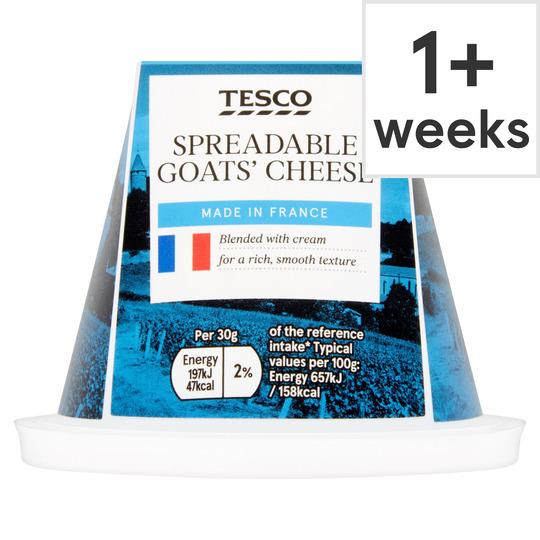 Tesco Spreadable Goats Cheese 150G