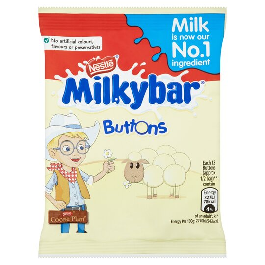 Milkybar White Chocolate Buttons Bag
