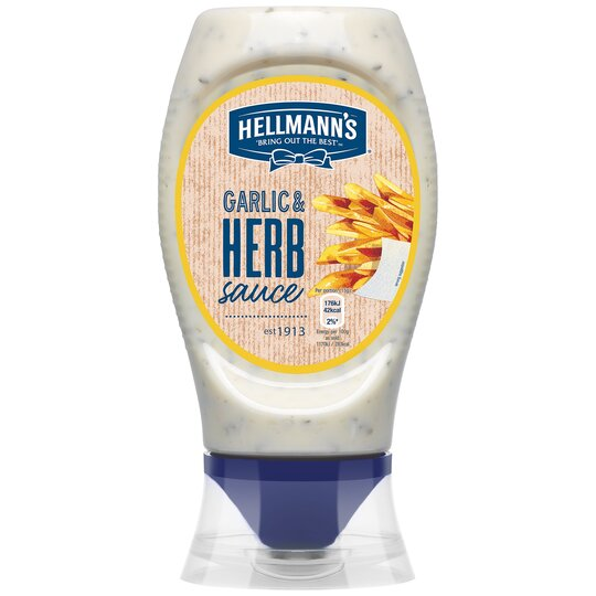 Hellmann's Garlic & Herb Sauce 250Ml