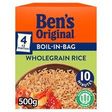 image 1 of Ben's Original Boil In Bag Wholegrain Rice 4 Pack 500G