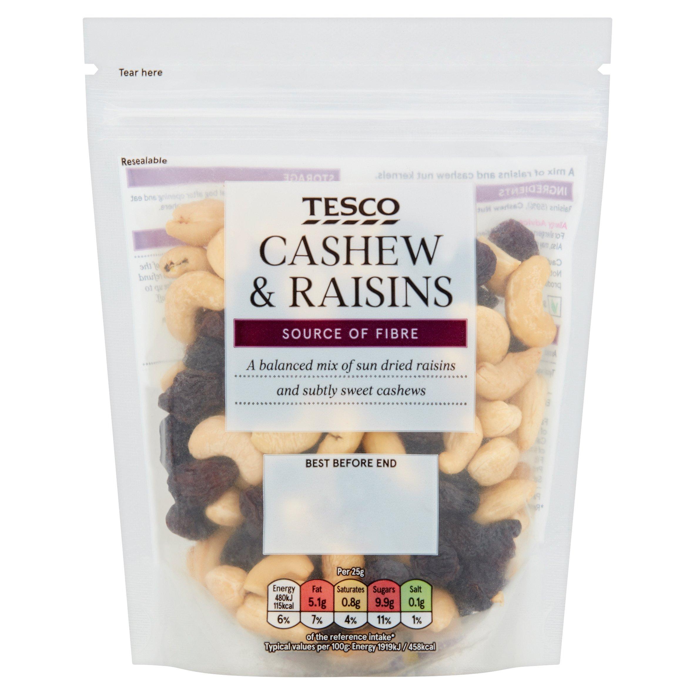 Tesco Cashew & Raisins 200G